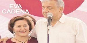 Es una trampa el video donde Eva Cadena recibe dinero: AMLO