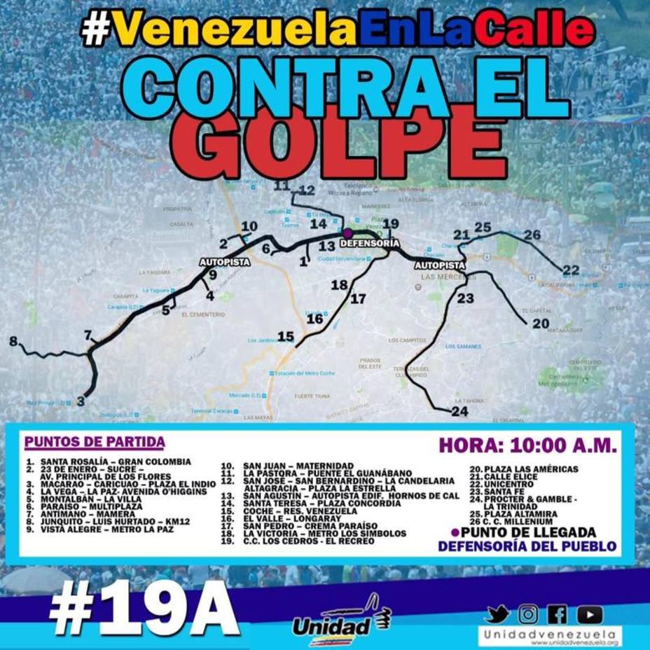 Chavistas también marcharon para respaldar el Gobierno de Nicolás Maduro