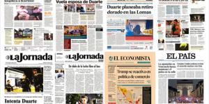 Duarte y ataque en París en primeras planas del viernes