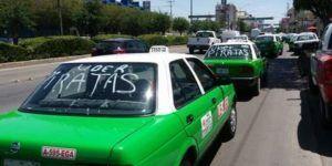 Protestan taxistas contra Uber en Guanajuato