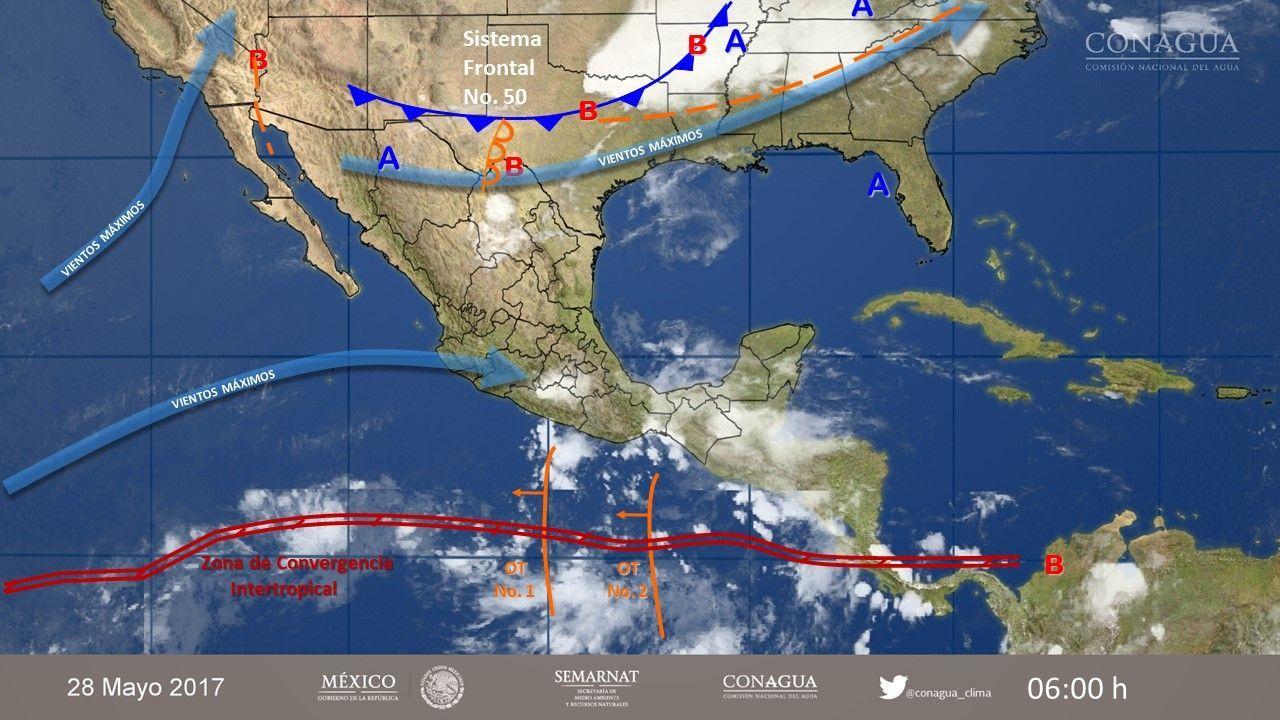 Tormentas intensas y muy fuertes prevalecerán en parte del sur y sureste mexicano