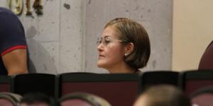 Eva Cadena comparece en San Lázaro por demanda de desafuero