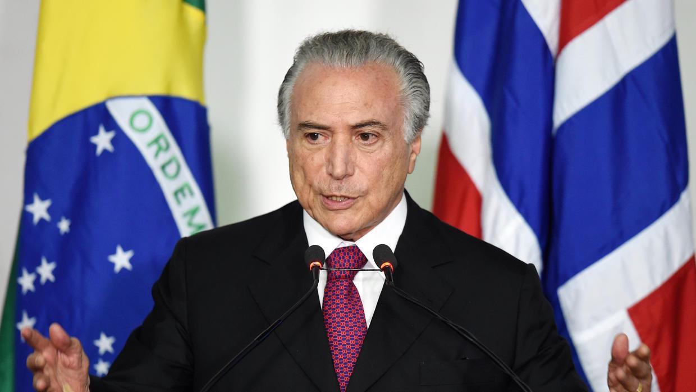 Presidente de Brasil será investigado por corrupción y obstrucción