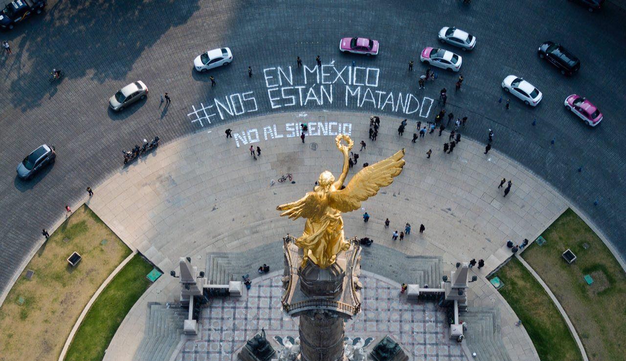 Periodistas exigen frente a SEGOB justicia para colegas asesinados