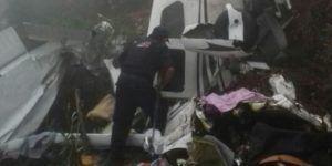 Identifican a tripulantes del avión pequeño estrellado en Veracruz