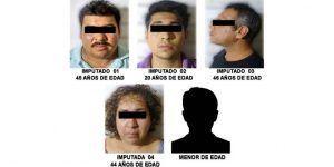 Detienen a cinco presuntos narcomenudistas en la colonia Guerrero