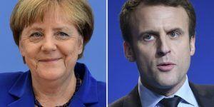Macron visitará a Merkel en su primer día como presidente