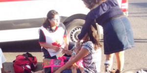 Choque de motocicletas en Durango deja cuatro heridos
