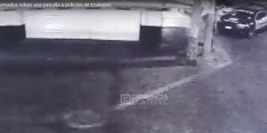 #Video Roban patrulla en el Estado de México