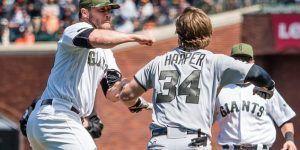 #Video Bryce Harper a los golpes contra lanzador de Gigantes
