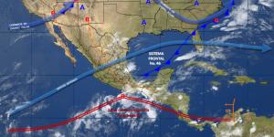 Tormentas afectarán varias regiones del país este domingo