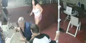#Video Hombre ahuyenta a ladrones con un machete