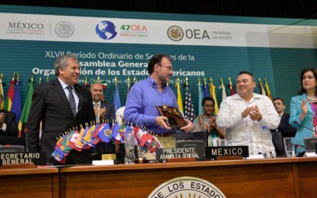 Termina reunión de la OEA