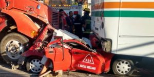 Choque deja un muerto y siete heridos en Aguascalientes