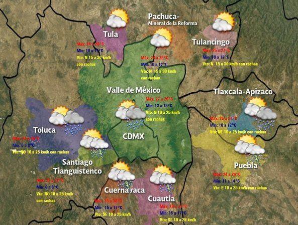 Ciudad de México registrará cielo despejado con potencial de lluvia