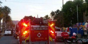 Menores provocan incendio en dos casas de Torreón