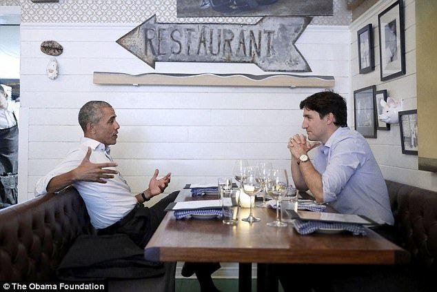 Obama y Trudeau salen a cenar y las redes enloquecen