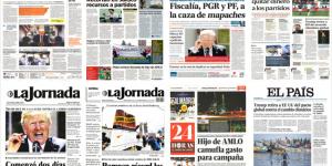 Jalisco y Trump en primeras planas del viernes
