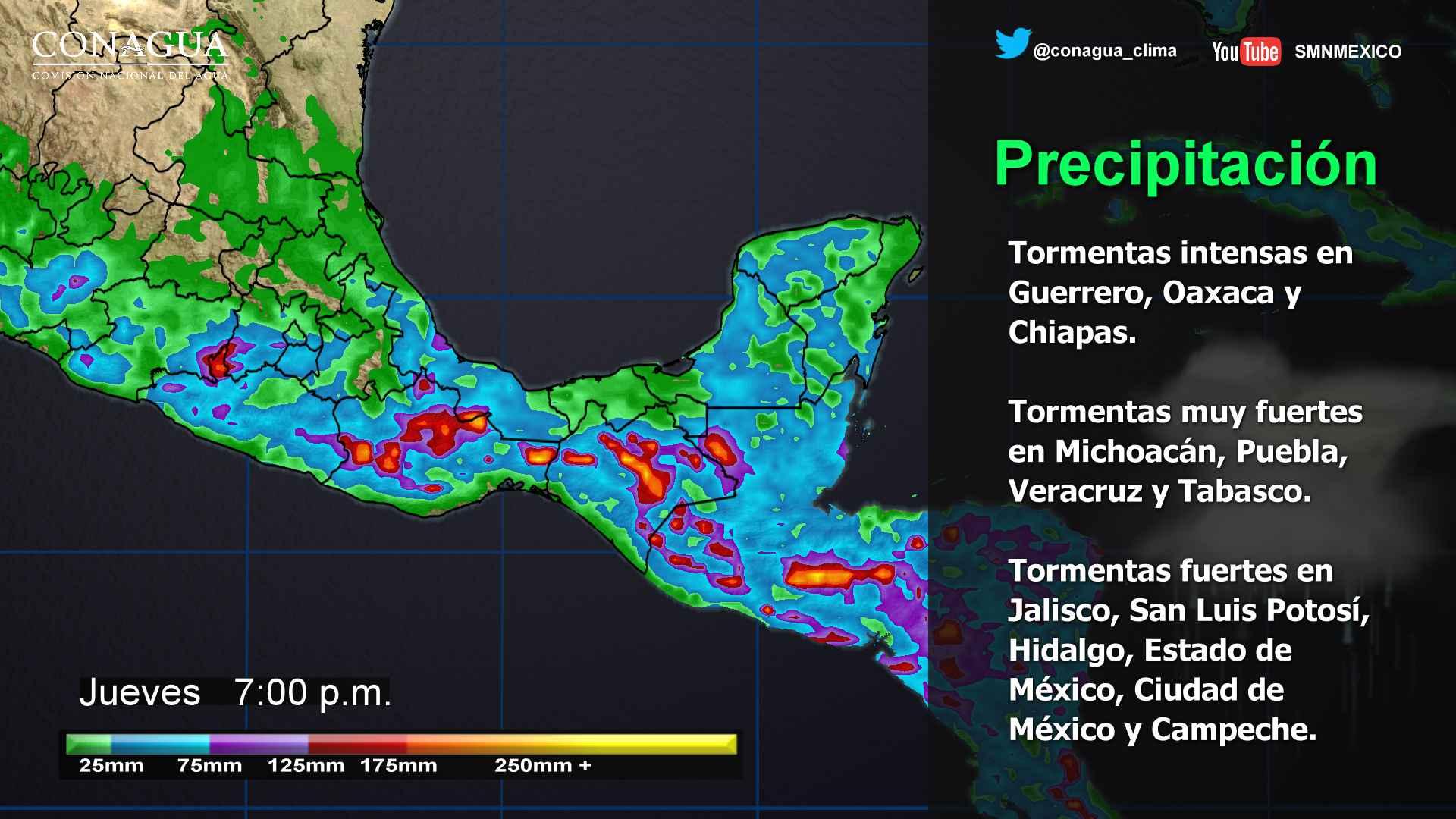 Renuevan alerta por vientos fuertes en el centro del país