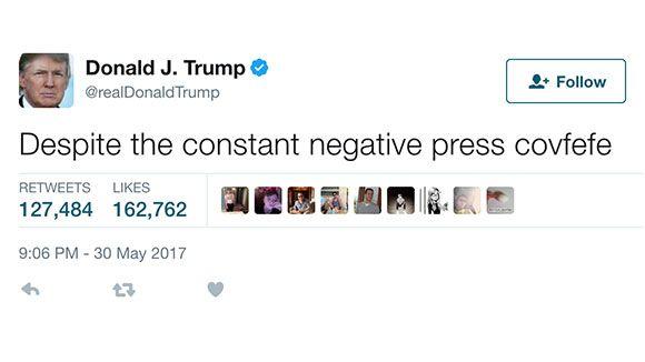 Congresista propone ley 'Covfefe' para registrar oficialmente los tuits de Trump