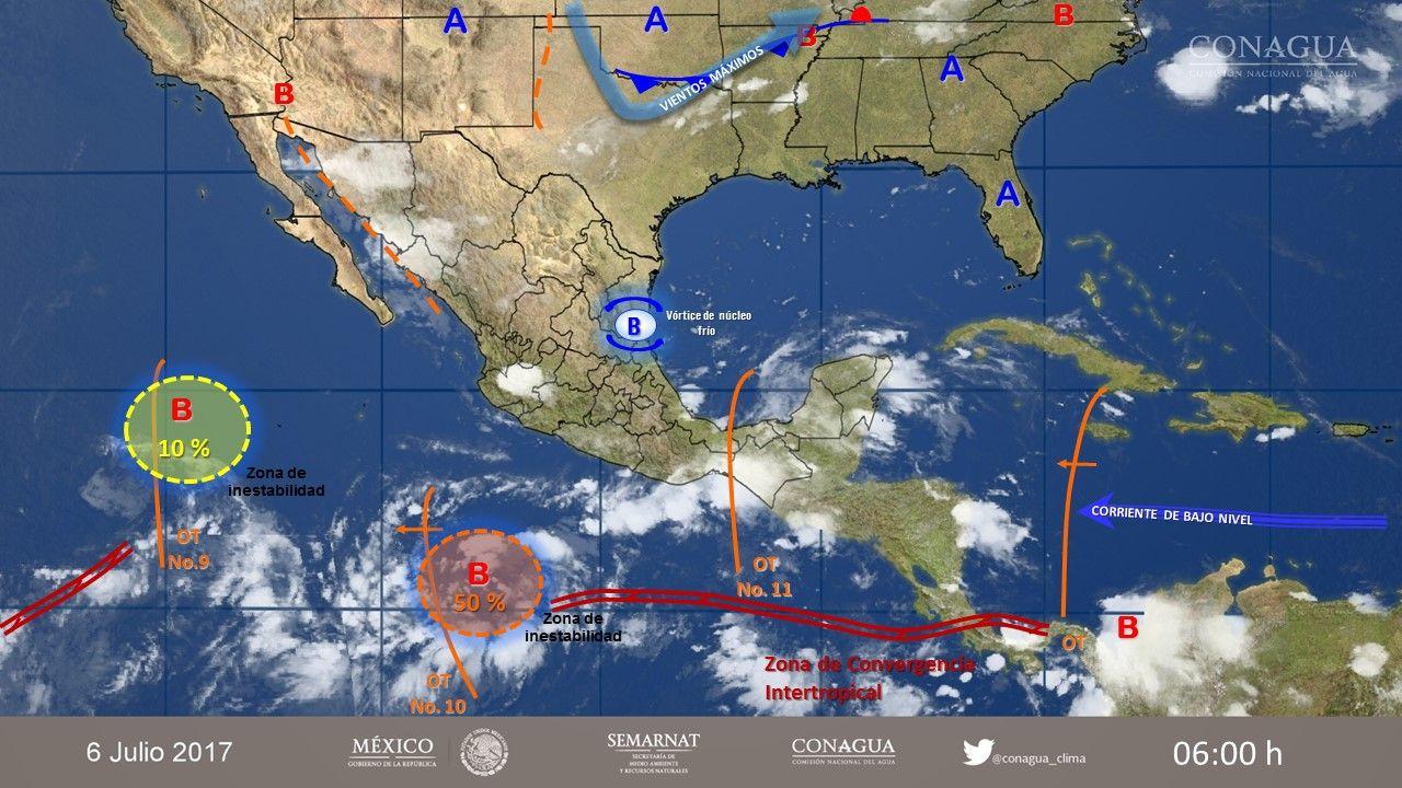 Persiste cielo nublado y lluvias vespertinas en el Valle de México