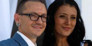 chester bennington y su esposa