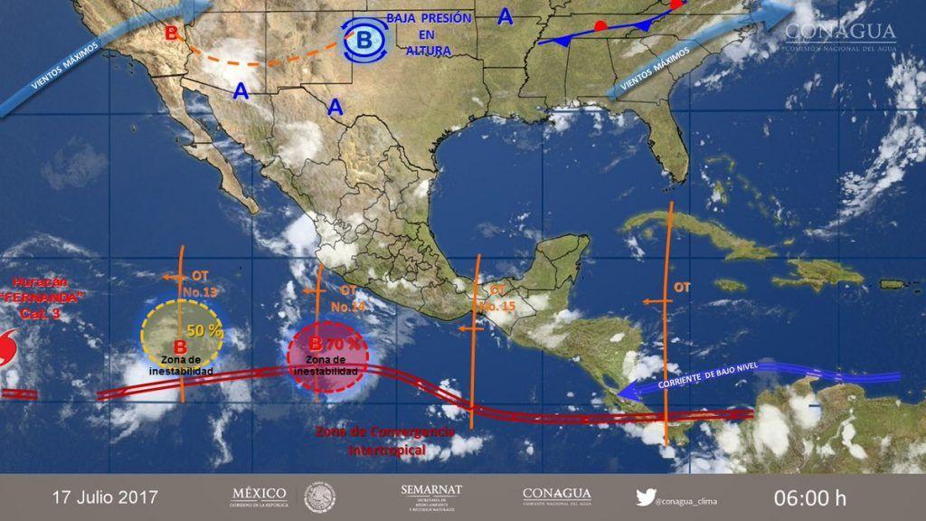 Pronostican fuertes lluvias en la CDMX durante esta noche
