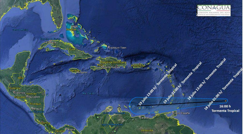 Se forma la tormenta 'Don' en el Atlántico