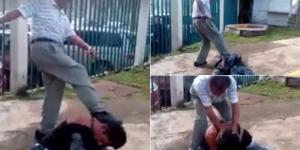 #Video Golpiza a presunto delincuente inconsciente en Ecatepec