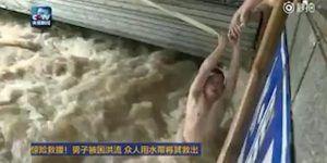 #Video Salvan a hombre de ahogarse con manguera contra incendios