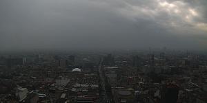 Fuertes lluvias en el Valle de México