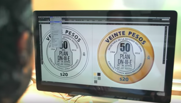 Lanzan nueva moneda de 20 pesos para conmemorar el DN-III-E