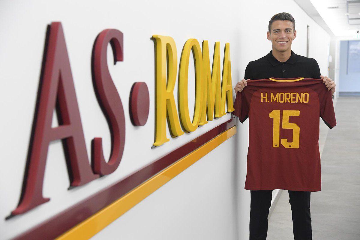 Moreno entrena por primera vez con la Roma