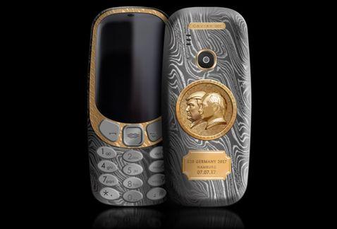 Nokia lanza modelo de titanio, con Putin y Trump en oro