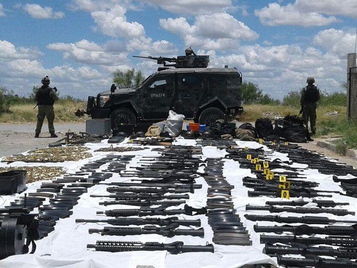 Militares decomisan arsenal en Nuevo Laredo