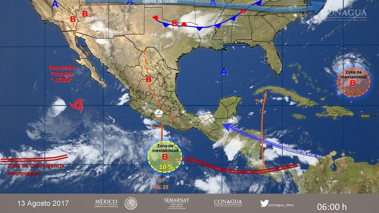 SMN pronostica lluvias fuertes para Colima