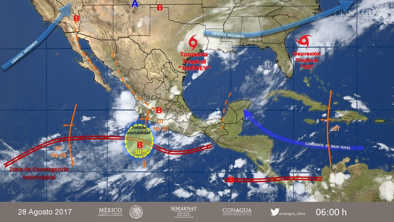 Sigue vivo pronóstico de lluvias intensas
