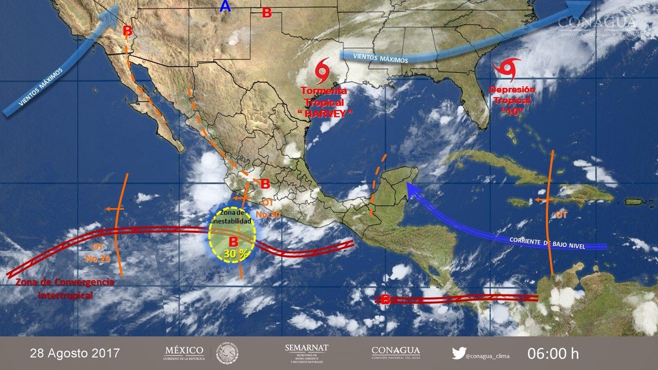 ¡Cuidado! Continuarán las fuertes lluvias por Harvey