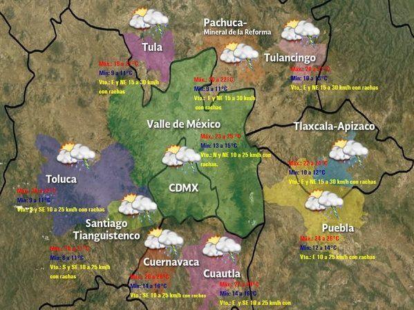 Seis estados esperan tormentas intensas en las próximas horas