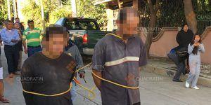 Pobladores amarran a dos funcionarios en Oaxaca