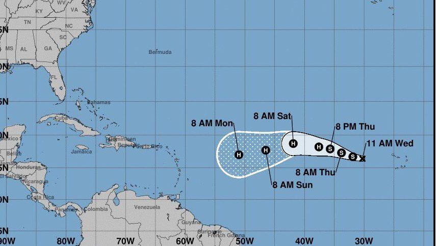 Se formó la Tormenta Tropical Irma en el Atlántico