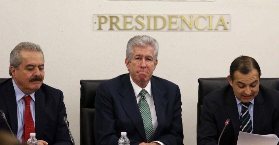 Comparece Ruiz Esparza en el Senado por socavón