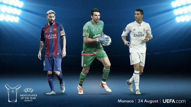 Esta es la terna finalista a Mejor Jugador del Año UEFA