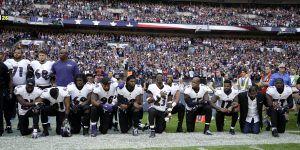 Jugadores de la NFL desafían a Trump en Londres
