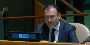 Luis Videgaray pide ayuda a ONU por sismo