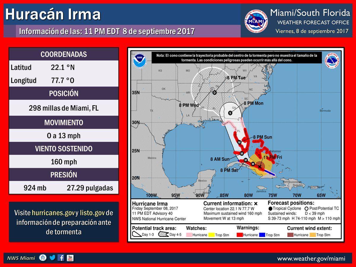 Irma impacta con fuerza el norte de Cuba