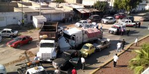 Carambola en Gómez Palacio deja cuatro heridos
