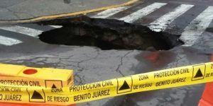 Se forma otro socavón en la Ciudad de México