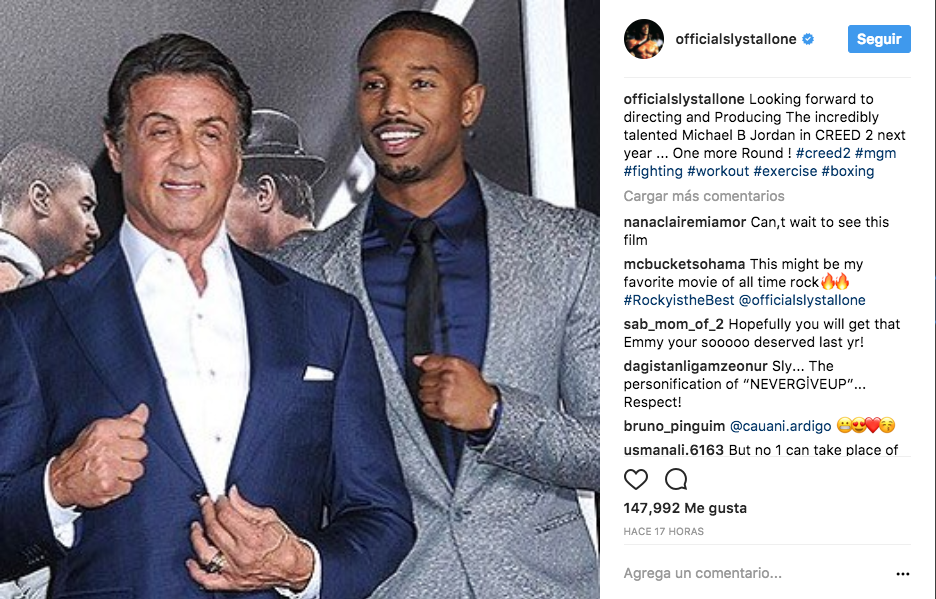 Dirigirá Stallone Creed 2