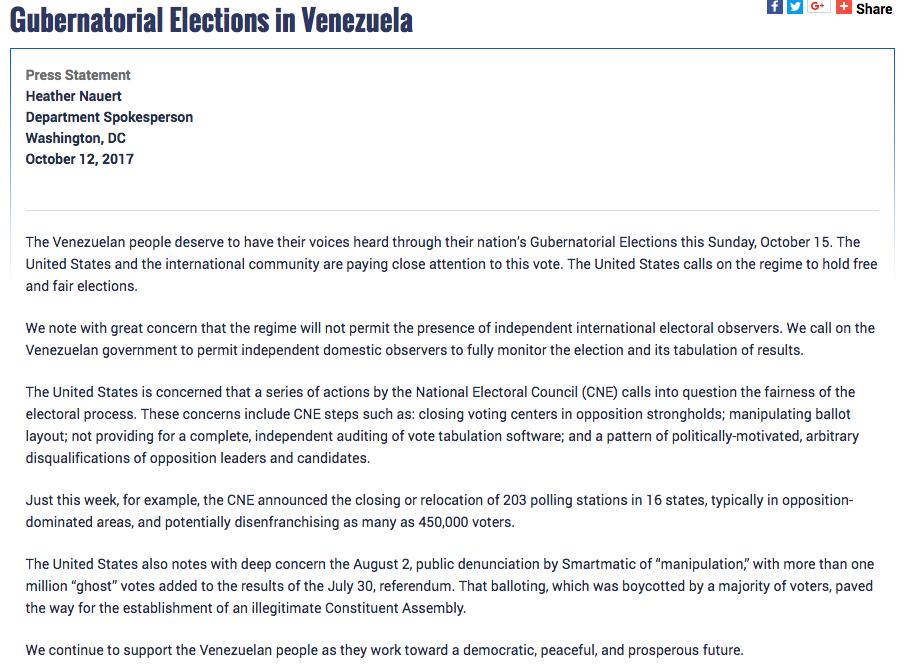 Todo listo para la fiesta electoral del #15Oct — Delcy Rodríguez